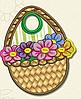 Полотенце с петелькой Корзинка с цветами (40*70 для рук)