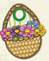 Полотенце с петелькой Корзинка с цветами (40*70 для рук), фото 1