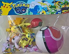 Pokemon GO Покемоны и покебол 15 фигурок и 2 шара