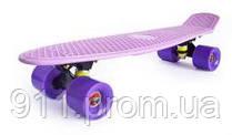 Cкейтборд  Penny board, сиреневый.