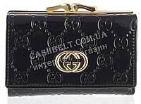 Маленький женский кожаный кошелек высокого качества Gucci art.G-8992B черный