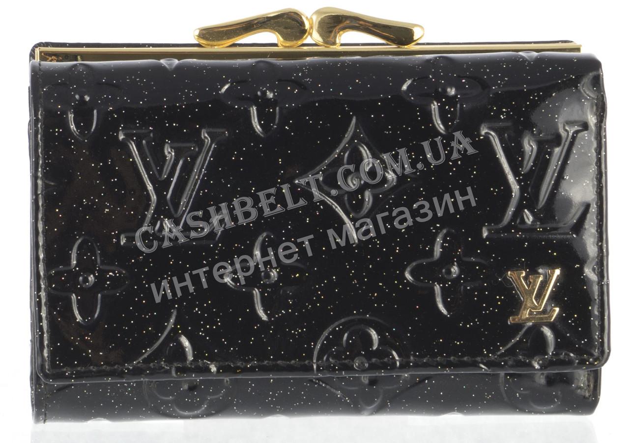 Красивый женский кожаный кошелек высокого качества art.LV-8432 A черный