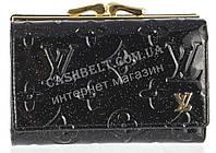 Красивый женский кожаный кошелек высокого качества Louis Vuitton art.LV-8432 A черный