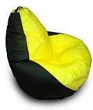 Черное с красным кресло-мешок груша 120*90 см из ткани Оксфорд, фото 3