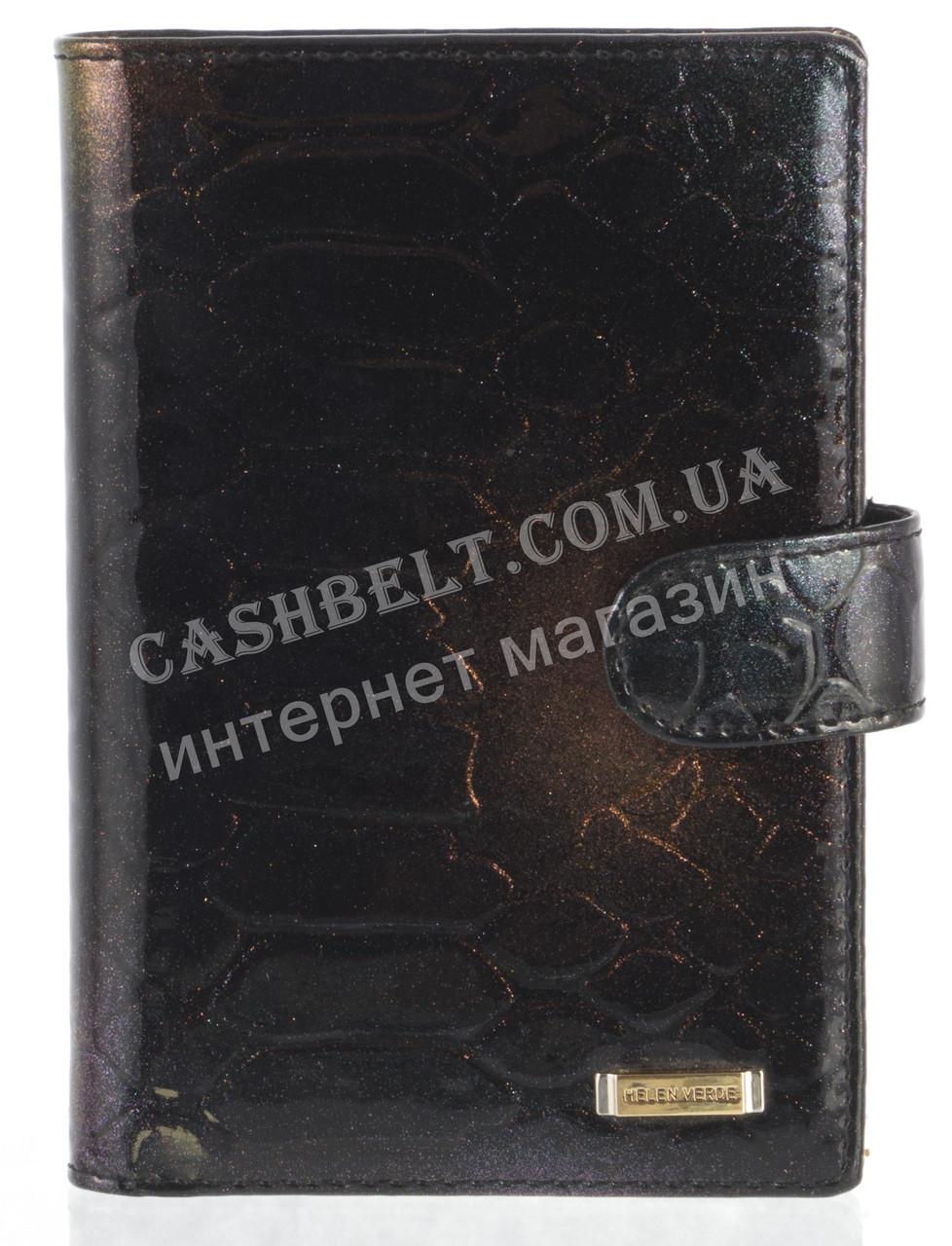 Стильная элитная лаковая кожаная документница высокого качества H.VERDE art. HV-107 A черный с переливом
