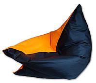 Оранжево-черное кресло мешок подушка 120*140 см  Шахтер из ткани Оксфорд, кресло-мат