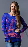 Вязаный свитер Париж, фото 1