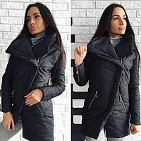 Женская теплая куртка Philipp Plein водоотталкивающая плащевка наполнитель синтепон 200 черная