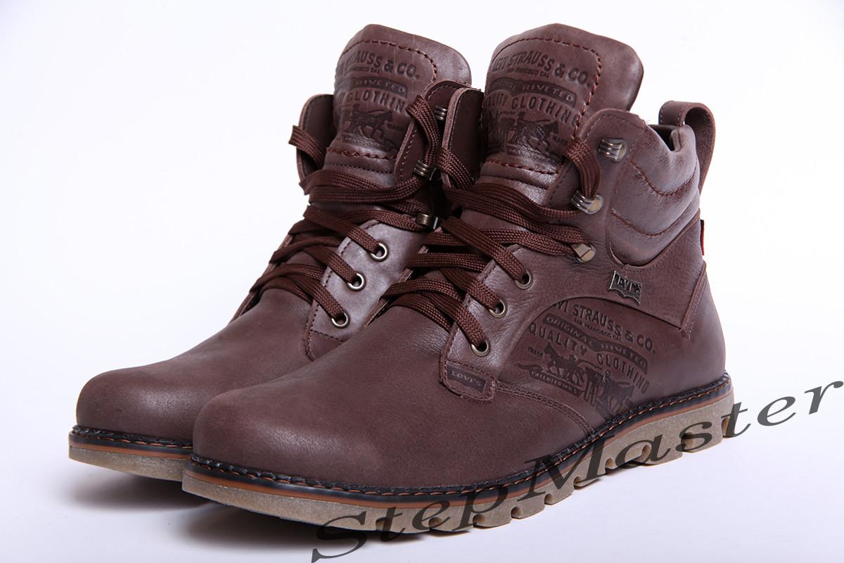 Ботинки кожаные мужские Levis Leather Jax Shoes - Интернет-магазин