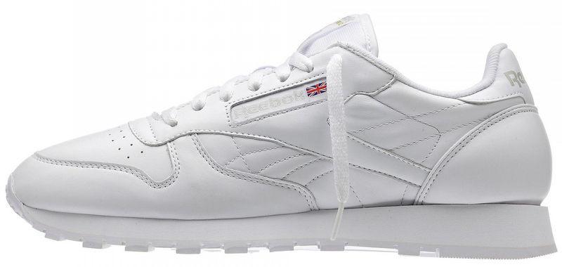 Мужские кроссовки Reebok Classic White (рибок классик) белые