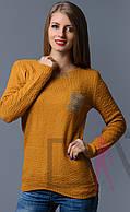 Вязаный свитер карманчик