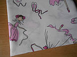 Лоскут ткани №439а с балеринами  на белом фоне 16*137 см, фото 2