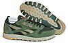 Мужские кроссовки Reebok Classic Suede (рибок классик) зеленые, фото 2