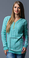 Вязаный свитер змейка розница