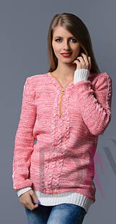Женский свитер вязка змейка