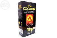 Кокосовый уголь Tom Cococha Gelb 3кг (216 кубика)- в упаковке