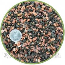 Грунт аквариумный черно-розовый 2-5 мм  мелкий Nechay ZOO 10 кг.