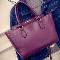 Большая женская сумка V.Fabbiano фиолетовая