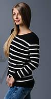 Женский свитер полоска в ассортименте