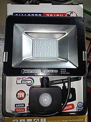 Светодиодный прожектор SMD с датчиком движения  20W 6500K 1000Lm