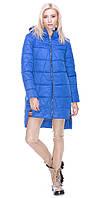 Куртка с врезкой голубая 46 зима