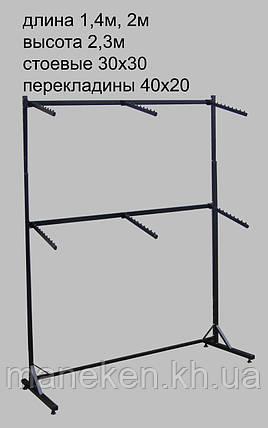Торговое оборудование стойка  пристенная 1,4 кк, фото 2