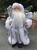Дед мороз серебристый,30 см .Харьков розница., фото 1