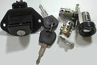 Комплект личинок дверей, багажника + замок зажигания Ланос (хэтчбэк) оригинал 96236253