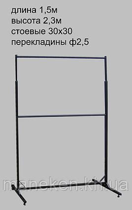 Торговое оборудование стойка 1,5м  2-х яр кк, фото 2