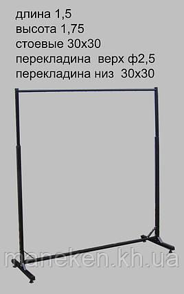 Торговое оборудование стойка 1,5м кк, фото 2