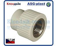 Полипропиленовая муфта 20х1/2 РВ ASG-Plast (Чехия)