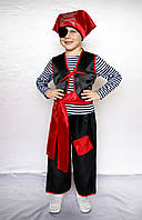 Детский новогодний костюм для мальчика Пират красный / чёрный от 3 до 7 лет