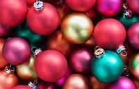 Елочные Новогодние Шары 5 см Украшение на Елку в Наборе 6 шт, фото 1