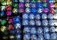 Елочные Новогодние Шары 6 см Украшение на Елку в Наборе 6 шт, фото 1