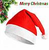 Новогодняя Шапка Деда Мороза Колпак Санта Клауса Santa Claus Классическая Упаковка 12 шт