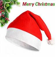 Новогодняя Шапка Деда Мороза Колпак Санта Клауса Santa Claus Классическая Упаковка 12 шт, фото 1