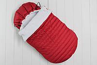 """Конверт детский зимний для новорожденного """"Snowball red"""""""
