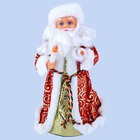 НовогодняяСтатуэткаДед Мороз СнегурочкаМузыкальная Игрушкапод Елку 25 см