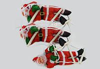 Новогодняя Игрушка Подвесные Santa Claus Декор для ДомаСанта Клаусыс Мешком Лезут по Лестнице 25 см, фото 1