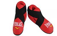 Защита стопы (киксы,футы) Everlast (кожа) красные