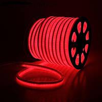 Светодиодный гибкий неон (холодный неон) 2835 220V 120led IP68 красный,G-Tech