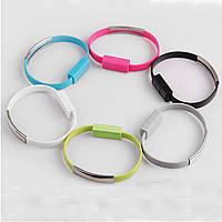 Адаптер - браслет для телефона USB шнур белый