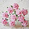 Розочки бумажные св. розовые 15 мм (5)