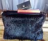 Сумка-чехол для планшета или ноутбука из натурального меха стриженной нутрии, размер 30х20х4 см