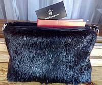 Сумка-чехол для планшета или ноутбука из натурального меха стриженной нутрии, размер 30х20х4 см, фото 1
