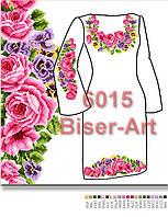 Заготовка для вишивки жіночого плаття С-6015на габардині