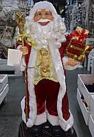 Дед мороз красно-золотой 60 см. Игрушки под елку., фото 1