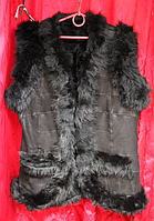 Натуральная женская тёплая жилетка