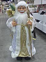 Дед мороз бело-золотой (белый+золото),60 см .Харьков розница., фото 1