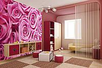 """Фотообои """"Розовые розы 2"""", текстура песок, штукатурка"""